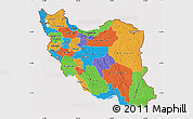 Political Map of Iran, cropped outside