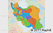 Political Map of Iran, lighten