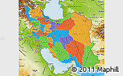 Political Map of Iran, physical outside