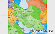 Political Shades Map of Iran