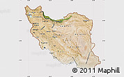 Satellite Map of Iran, cropped outside