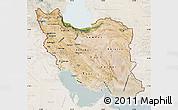 Satellite Map of Iran, lighten