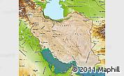 Satellite Map of Iran, physical outside, satellite sea
