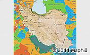 Satellite Map of Iran, political outside, satellite sea