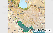 Satellite Map of Iran