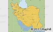 Savanna Style Map of Iran, single color outside