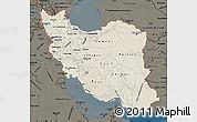 Shaded Relief Map of Iran, darken