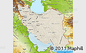 Shaded Relief Map of Iran, physical outside