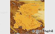 Political 3D Map of Markazi, physical outside