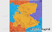 Political 3D Map of Markazi