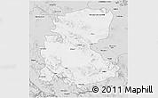 Silver Style 3D Map of Markazi