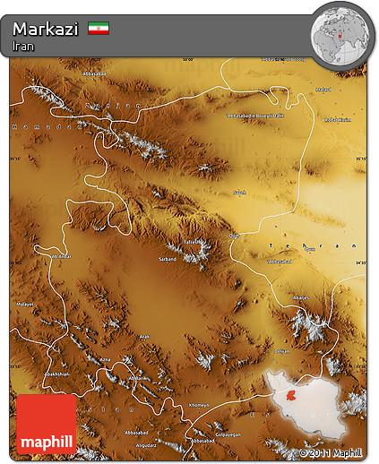 Physical Map of Markazi