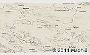 Shaded Relief Panoramic Map of Markazi
