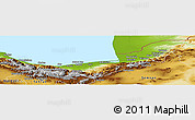 Physical Panoramic Map of Mazandaran