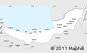 Silver Style Simple Map of Mazandaran