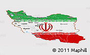 Flag Panoramic Map of Iran