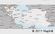 Gray Panoramic Map of Iran