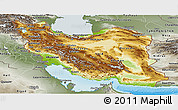 Physical Panoramic Map of Iran, semi-desaturated, land only