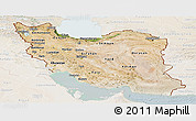 Satellite Panoramic Map of Iran, lighten