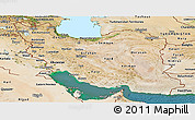 Satellite Panoramic Map of Iran