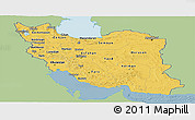 Savanna Style Panoramic Map of Iran, single color outside