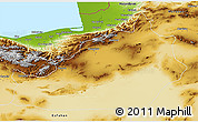 Physical 3D Map of Semnan