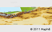 Physical Panoramic Map of Semnan