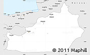 Silver Style Simple Map of Semnan