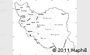 Blank Simple Map of Iran, cropped outside