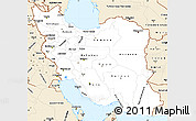 Classic Style Simple Map of Iran