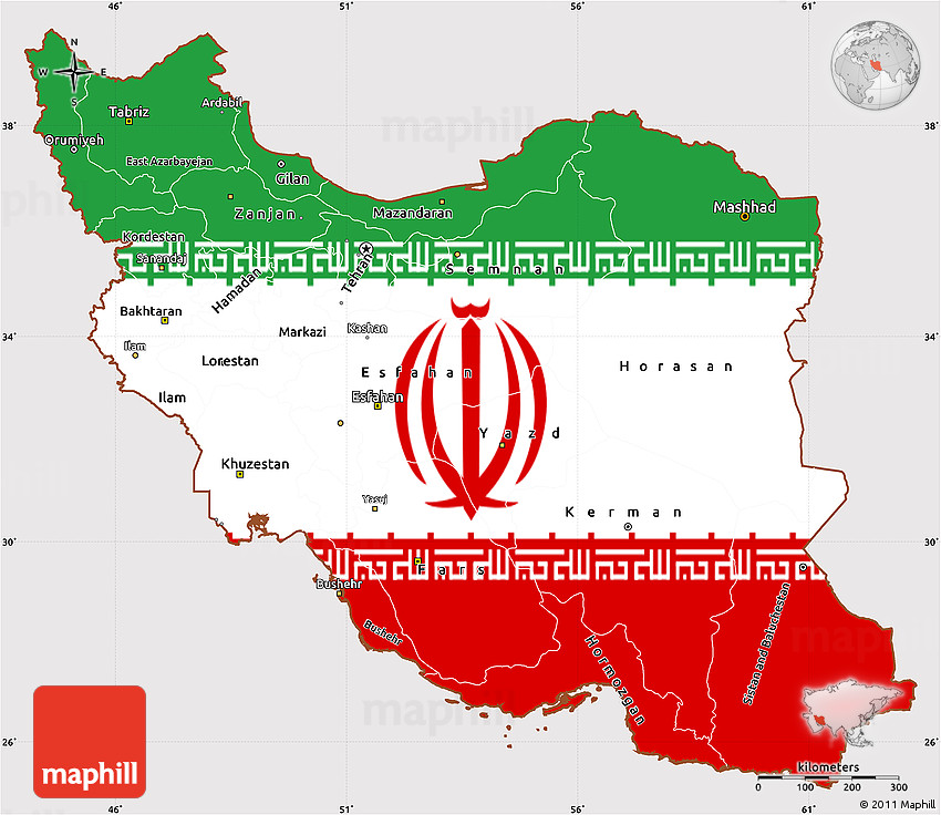 Simple Site Map: Flag Simple Map Of Iran