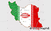 Flag Simple Map of Iran, flag rotated