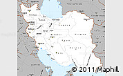 Gray Simple Map of Iran