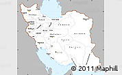 Gray Simple Map of Iran, single color outside