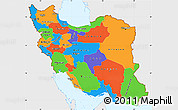 Political Simple Map of Iran, single color outside