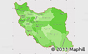 Political Shades Simple Map of Iran, cropped outside