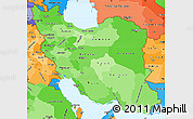 Political Shades Simple Map of Iran