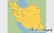 Savanna Style Simple Map of Iran, single color outside
