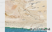 Satellite Panoramic Map of Sistan and Baluchestan