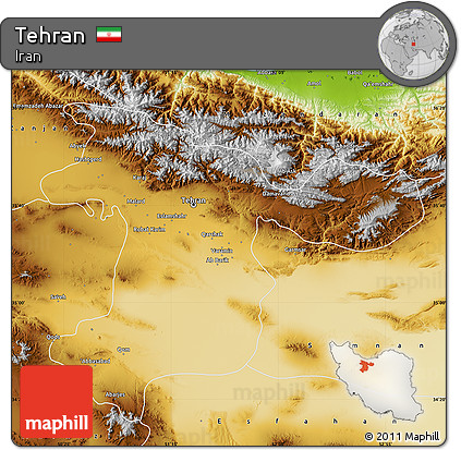 Physical Map of Tehran