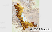 Physical 3D Map of West Azarbayejan, lighten