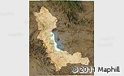 Satellite 3D Map of West Azarbayejan, darken