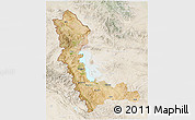 Satellite 3D Map of West Azarbayejan, lighten