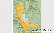 Savanna Style 3D Map of West Azarbayejan