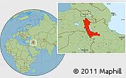 Savanna Style Location Map of West Azarbayejan