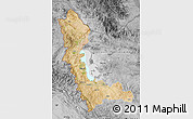 Satellite Map of West Azarbayejan, desaturated