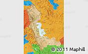 Satellite Map of West Azarbayejan, political outside