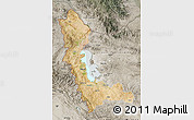 Satellite Map of West Azarbayejan, semi-desaturated