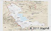 Classic Style Panoramic Map of West Azarbayejan