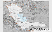 Gray Panoramic Map of West Azarbayejan